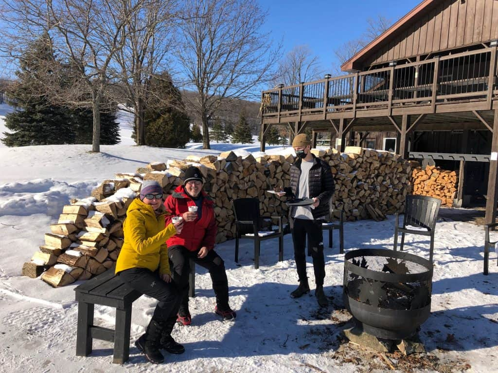 Winter Activities - Duntroon Highlands crackling fire