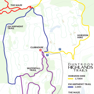 Duntroon Highlands Winter Trails Map